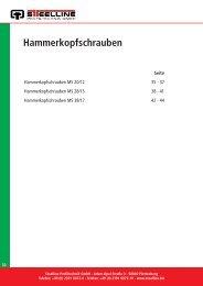 Hammerkopfschrauben - Steelline Profiltechnik GmbH