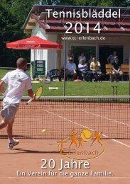 Unser Tennisbläddel 2014 steht zum download ... - TC Erlenbach eV
