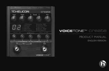 VoiceTone Create Manual - TC-Helicon