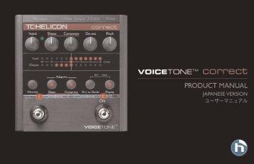 VoiceTone Correct Manual - TC-Helicon