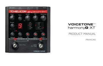PRODUCT MANUAL harmonyG.XT - TC-Helicon