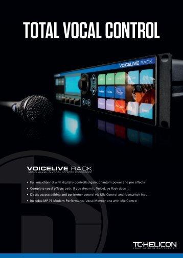 VoiceLive Rack Brochure - TC-Helicon