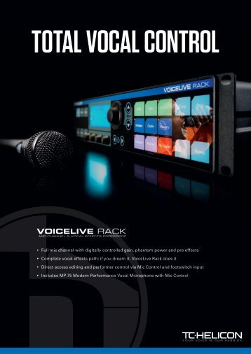 VoiceLive Rack Brochure - TC-Helicon