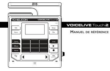 MANUEL DE RÉFÉRENCE - TC-Helicon
