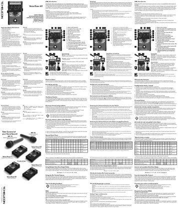 TC Helicon VSM200 User Manual