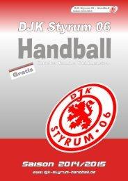 DJK Styrum 06 - Saisonheft 2014/2015