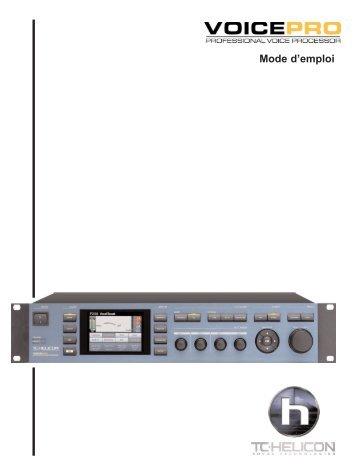 Section 6 : Détail des paramètres - TC-Helicon