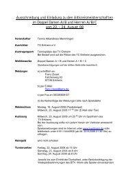 Ausschreibung und Einladung zu den ... - TC Holzguenz
