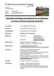 Ausschreibung und Einladung zum Mixedturnier - TC Holzguenz