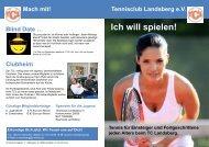 Ich will spielen! - Tennisclub Landsberg e. V.