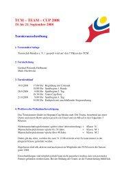 Ausschreibung TCM-TEAM-CUP 2008 1 - TC Menden