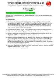 Beitragsordnung vom 14.03.2013 - TC Menden