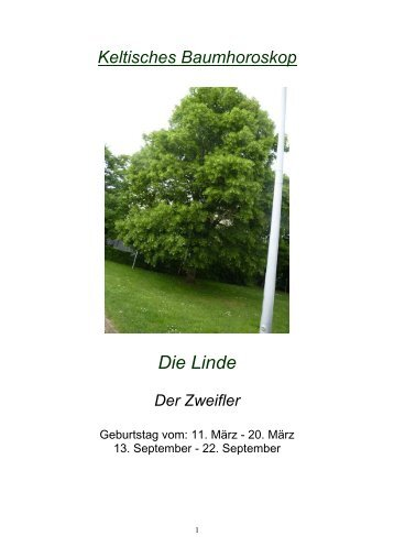"""Keltisches Baumhoroskop """"Die Linde"""""""