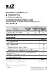 Entgeltbestimmungen (PDF) - Tele2