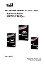 Leistungsbeschreibung (PDF) - Tele2