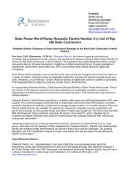 Solar Power World Ranks Rosendin Electric Number 3 in List of Top 400 Solar Contractors