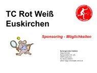 Konzept zur Förderung des Tennis-sports im TC Rot Weiss Euskirchen