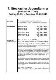 Ausschreibung (pdf) - TC Stockach
