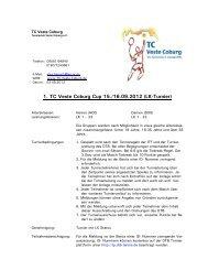 Ausschreibung - TC Veste Coburg