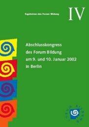 Abschlusskongress des Forum Bildung - Bund-Länder-Kommission für ...