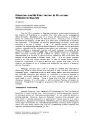 Education and its Contribution to Structural Violence in Rwanda