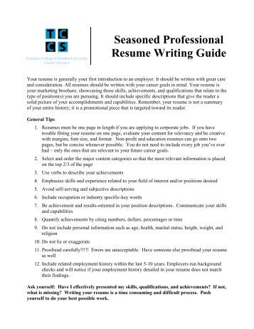 Professional Resume Writing - Our Easy 3 Step Process...