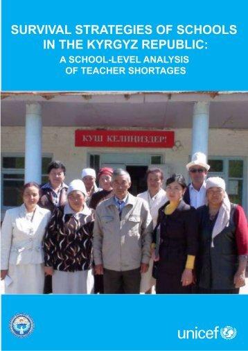 survival strategies of schools in the kyrgyz republic - Teachers ...