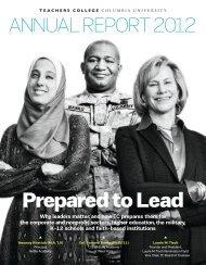 Prepared to Lead - Teachers College Columbia University