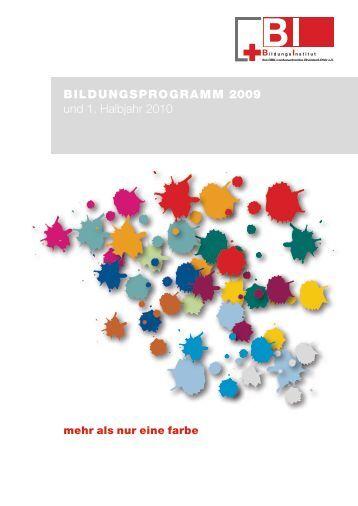 BILDUNGSPROGRAMM 2009 und 1. Halbjahr 2010