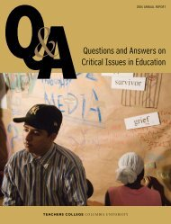 Q AQuestions and Answers on Critical Issues in Education