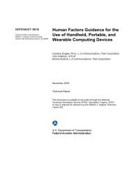 Human Factors Guidance for the Use of Handheld Portable ... - FAA