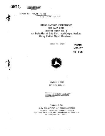 Performance And Flight Tests Of The Type 1 Faa