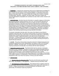 Sensitive Security Information (SSI) - FAA