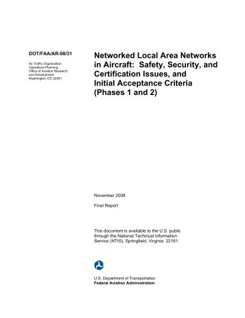 Local Area Networks (LANs) in Aircraft - FTP Directory Listing - FAA