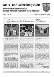 Amtsblatt Juli/August 2013