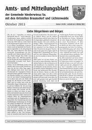 Amtsblatt Oktober 2013