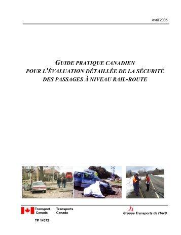 Guide pratique canadien pour l'évaluation détaillée de la sécurité ...