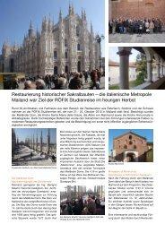 die italienische Metropole Mailand war Ziel der RÖFIX Studienreise im