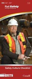Safety Culture Checklist - Transports Canada