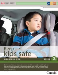 Booster seats (Stage 3) - Transports Canada