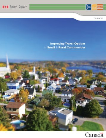 Improving Travel Options in Small & Rural Communities - FCM