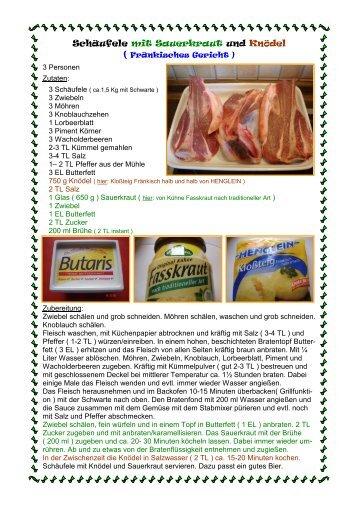 Schäufele mit Sauerkraut und Knödel