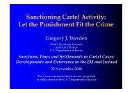 Sanctioning Cartel Activity: Let the Punishment Fit the Crime