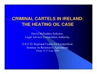 criminal cartels in ireland - The Competition Authority