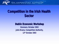 2003-10-12 Presentation (J.E.).pdf - The Competition Authority