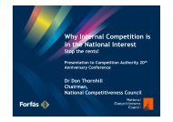 Why Internal Competition is in the National Interest