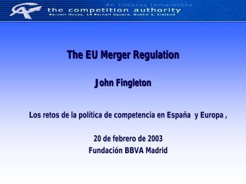 2003-02-20 Presentation (J.F.).pdf - The Competition Authority