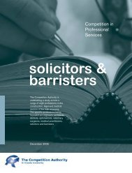 Solicitors and Barristers - The Competition Authority