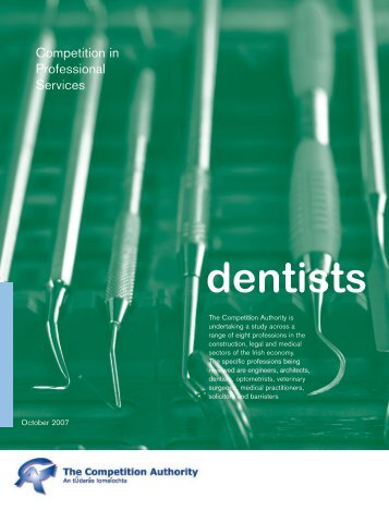 dentists - The Competition Authority