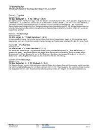 TC Bad Salzuflen Meisterschaftsspiele: Samstag/Sonntag 9./10. Juni ...